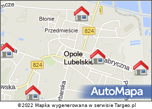 Mapa Polski Targeo. Noclegi kolumny III 4.08