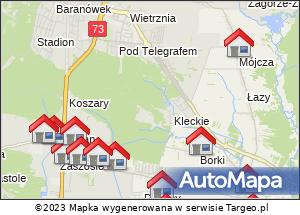 Mapa Polski Targeo.Noclegi 9.08
