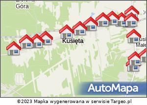Noclegi 13.08 wszystkie grupy. Mapa Polski Targeo