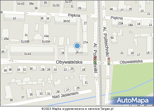 mapa lokalizacji biura ubezpieczeń należące do Grupa Finansowa Extender Sp. z o.o. znajdujące się w: Łódź, ul. Obywatelska 27