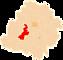 Powiat łaski - mapa