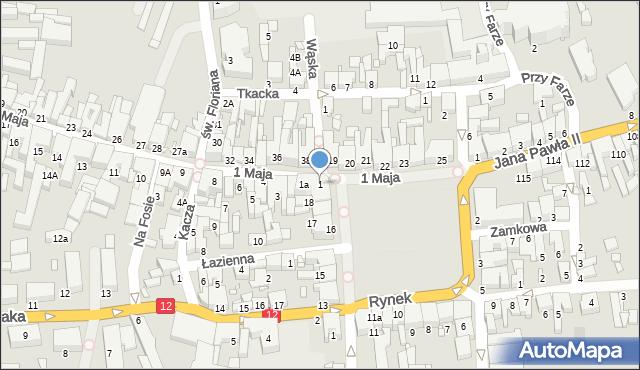 Gostyń, 1 Maja, 1, mapa Gostyń