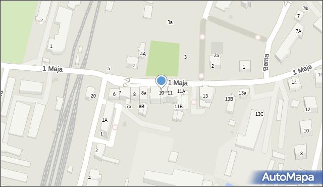 Lubin, 1 Maja, 10, mapa Lubin