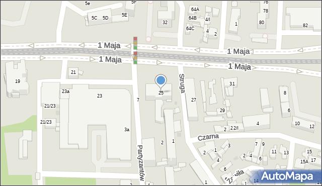 Sosnowiec, 1 Maja, 25, mapa Sosnowca