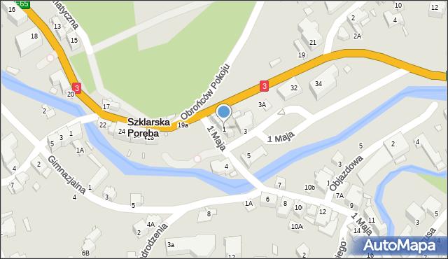 Szklarska Poręba, 1 Maja, 1, mapa Szklarska Poręba