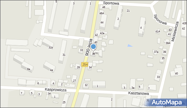Mogilno, 900-Lecia, 36, mapa Mogilno