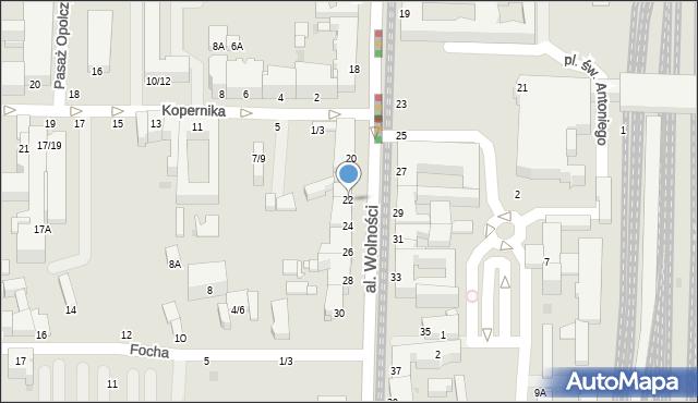Częstochowa, Aleja Wolności, 22, mapa Częstochowy