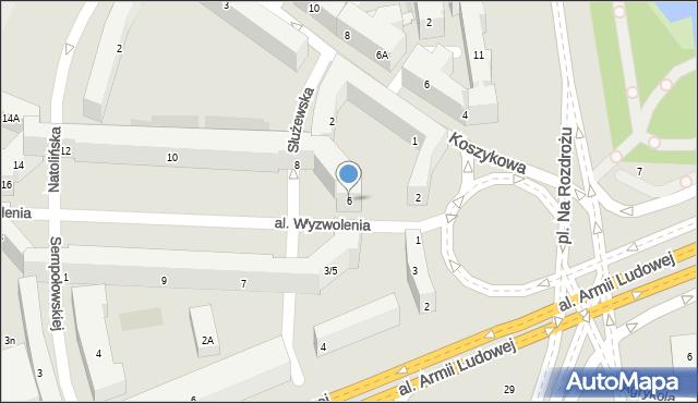 Warszawa, Aleja Wyzwolenia, 6, mapa Warszawy