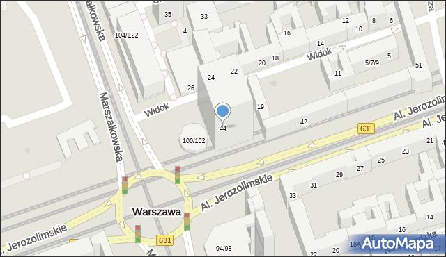Warszawa, Aleje Jerozolimskie, 44, mapa Warszawy