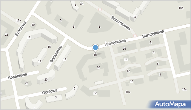 Lublin, Ametystowa, 18, mapa Lublina