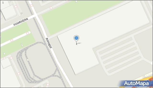 Warszawa, Annopol, 2, mapa Warszawy