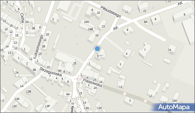 Jawor, Armii Krajowej, 2, mapa Jawor