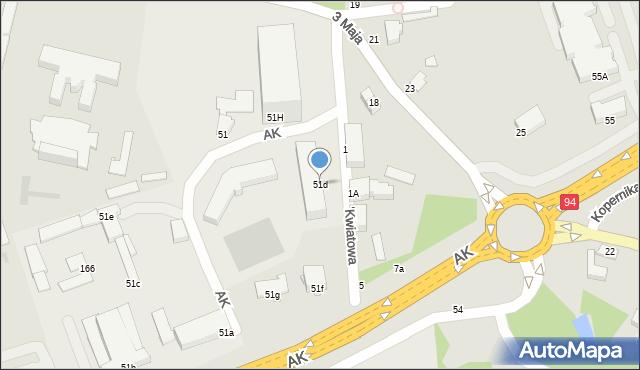 Łańcut, Armii Krajowej, 51d, mapa Łańcut