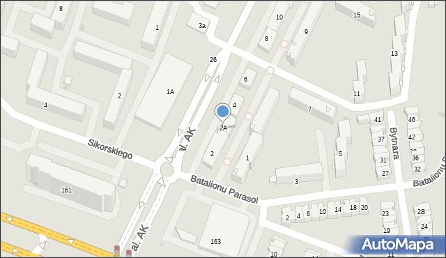 Płock, Armii Krajowej, 2A, mapa Płock