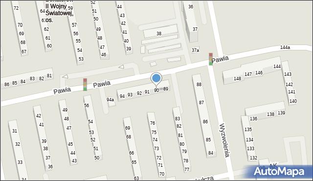 Poznań, Armii Krajowej, os., 90, mapa Poznania