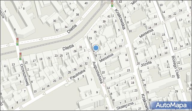 Kraków, Augustiańska, 6, mapa Krakowa