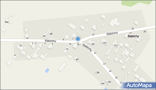 Babichy, Babichy, 8, mapa Babichy
