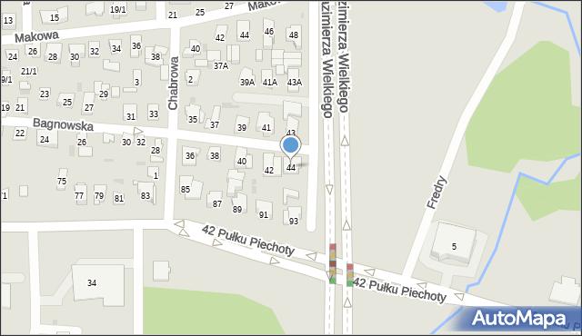 Białystok, Bagnowska, 6/1, mapa Białegostoku