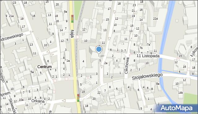 Bielsko-Biała, Barlickiego Norberta, 7, mapa Bielsko-Białej
