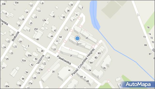 Łomianki, Baczyńskiego Krzysztofa Kamila, 12, mapa Łomianki