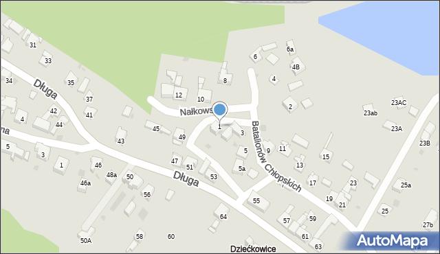 Mysłowice, Batalionów Chłopskich, 1, mapa Mysłowice