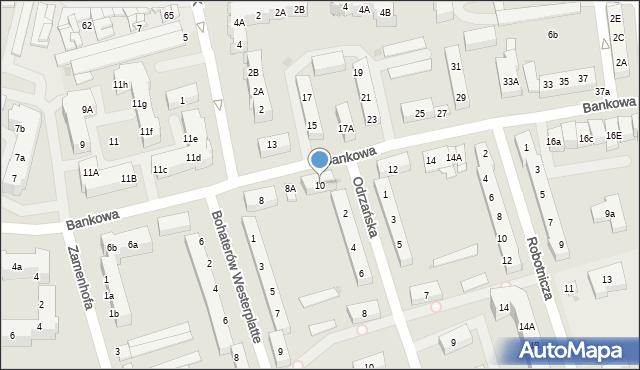 Police, Bankowa, 10, mapa Police