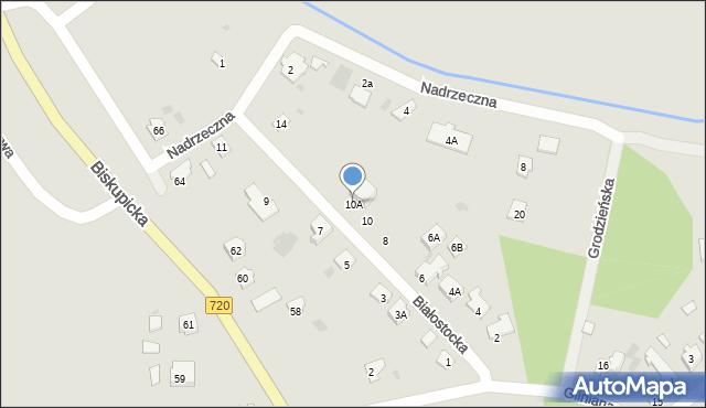 Brwinów, Białostocka, 10A, mapa Brwinów