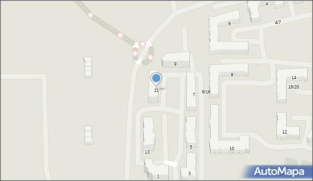 Olsztyn, Bilitewskiego Roberta, 11, mapa Olsztyna