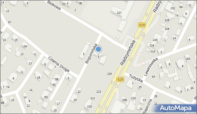 Warszawa, Blokowa, 1, mapa Warszawy