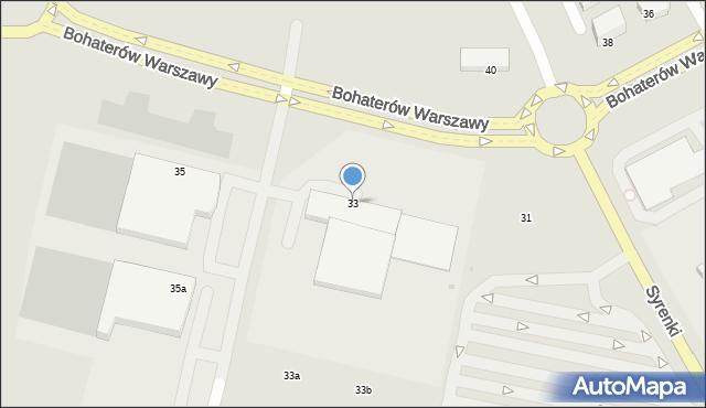 Koszalin, Bohaterów Warszawy, 33, mapa Koszalina