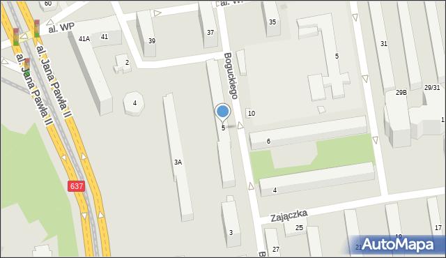 Warszawa, Boguckiego Teofila, 5, mapa Warszawy