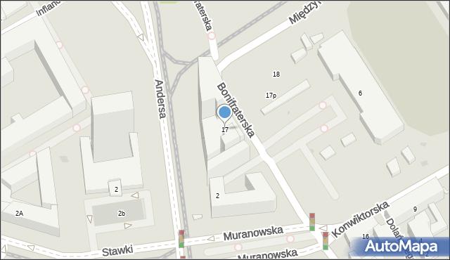 Warszawa, Bonifraterska, 17, mapa Warszawy