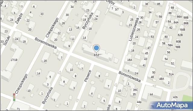 Warszawa, Boremlowska, 6-12, mapa Warszawy