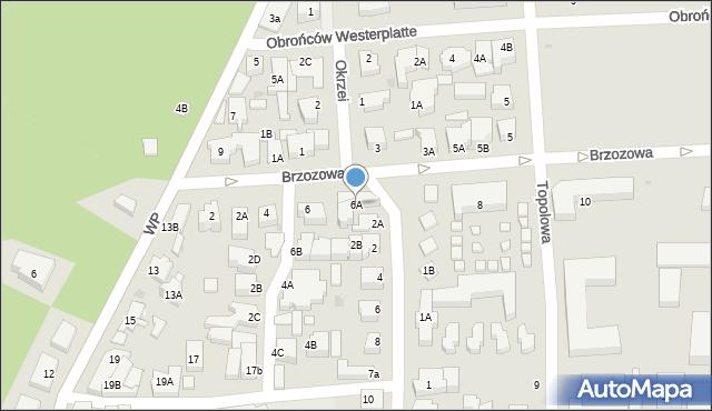 Łeba, Brzozowa, 6a, mapa Łeba