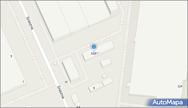 Łódź, Brzezińska, 5-15, mapa Łodzi