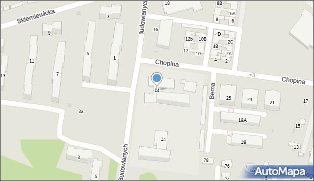 Góra Kalwaria, Budowlanych, 14, mapa Góra Kalwaria