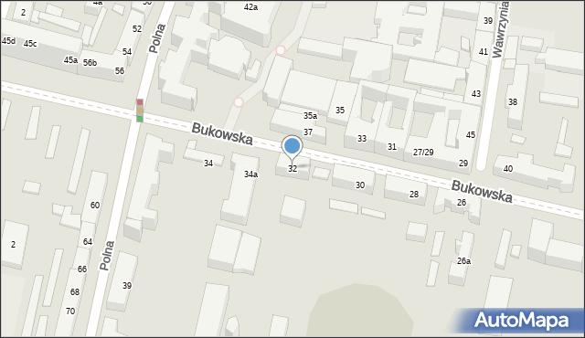 Poznań, Bukowska, 32, mapa Poznania
