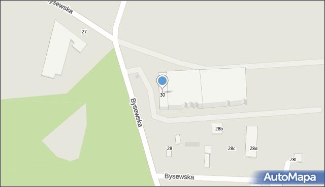 Gdańsk, Bysewska, 30, mapa Gdańska