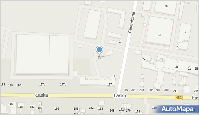Zduńska Wola, Ceramiczna, 1b, mapa Zduńska Wola