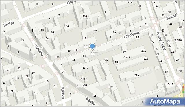 Warszawa, Chmielna, 11, mapa Warszawy