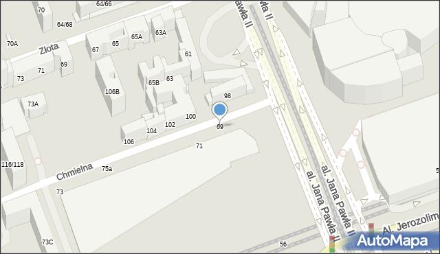Warszawa, Chmielna, 5-7, mapa Warszawy