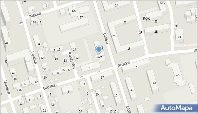 Warszawa, Ciołka Erazma, 19/25, mapa Warszawy