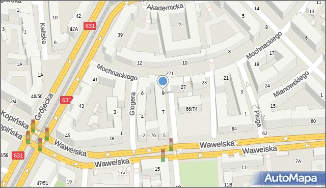 Warszawa, Conrada-Korzeniowskiego Josepha, 9, mapa Warszawy