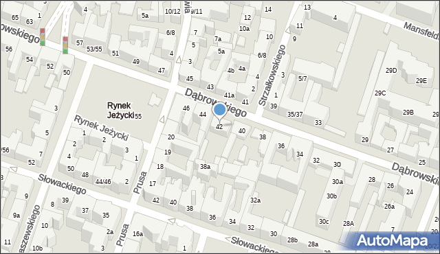 Poznań, Dąbrowskiego Henryka, gen., 42, mapa Poznania