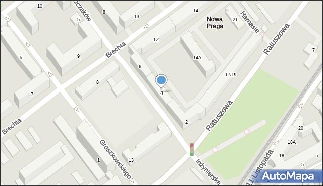 Warszawa, Dąbrowszczaków, 4, mapa Warszawy