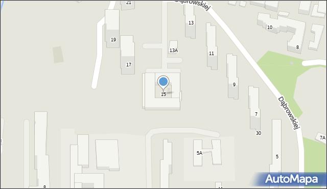 Warszawa, Dąbrowskiej Marii, 15, mapa Warszawy
