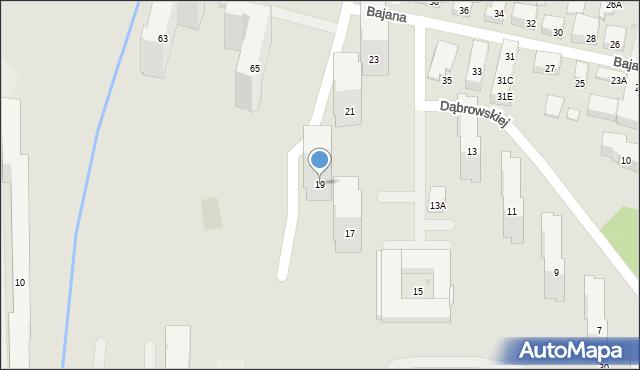Warszawa, Dąbrowskiej Marii, 19, mapa Warszawy