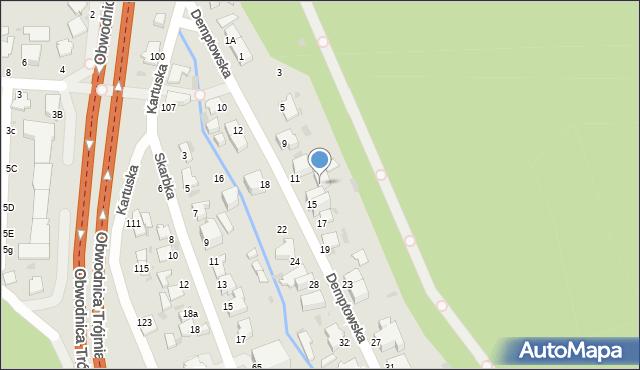 Gdynia, Demptowska, 13, mapa Gdyni