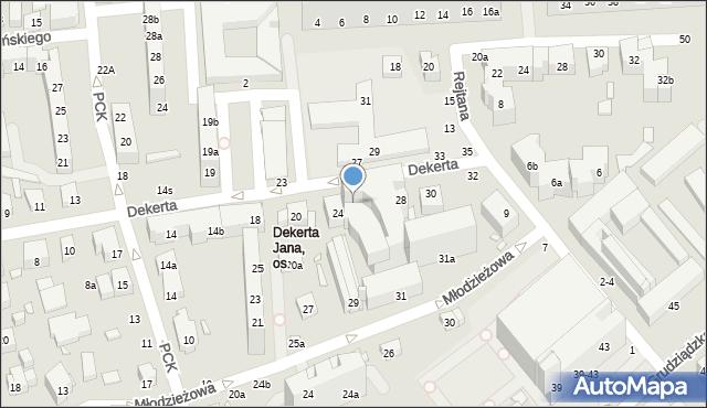 Toruń, Dekerta Jana, 26, mapa Torunia