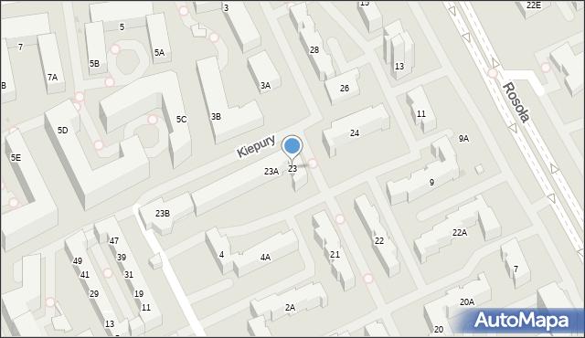Warszawa, Dembego Stefana, 23, mapa Warszawy